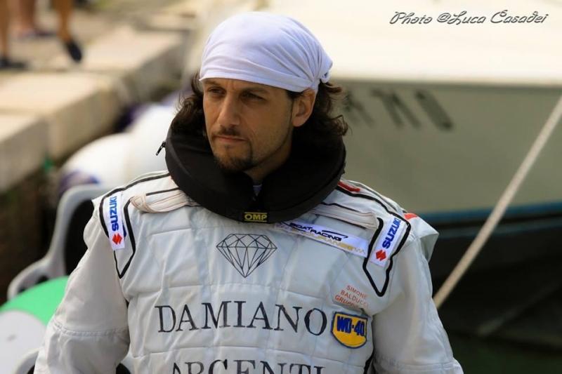 Simone Balducci pilota di motonautica